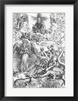 Framed Scene from the Apocalypse, The woman clothed with the sun and the seven-headed dragon