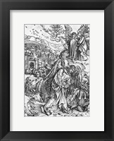 Framed Scene from the Apocalypse, The angel holding the keys of the abyss and a big chain