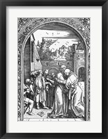 Framed meeting of St. Anne and St. Joachim at the Golden Gate