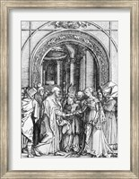 Framed marriage of the Virgin, from the 'Life of the Virgin'