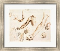 Framed Study of male hands and arms