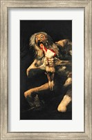 Framed Saturn Devouring one of his Children, 1821-23