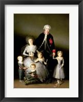 Framed Duke of Osuna and his Family, 1788
