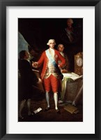 Framed Portrait of Don Jose Monino y Redondo I