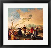 Framed Dance on the Banks of the River Manzanares, 1777