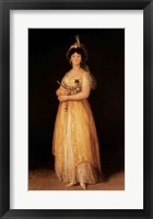 Framed Portrait of Queen Maria Luisa
