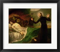 Framed St. Francis Borgia