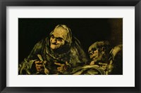 Framed Two Old Men Eating, one of the 'Black Paintings'