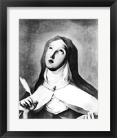 Framed St. Theresa of Avila