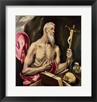 Framed St. Jerome