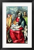 Framed Holy Family with St.Elizabeth