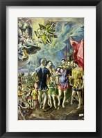 Framed Martyrdom of St. Maurice