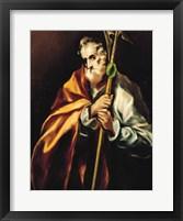 Framed St. Jude Thaddeus, 1606