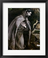 Framed St. Francis of Assisi