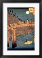 Framed Kyoto Bridge by Moonlight