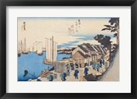 Framed Shinagawa: departure of a Daimyo