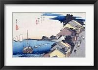 Framed Kanagawa: View of the Ridge