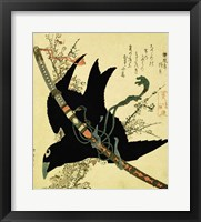 Framed Little Raven with the Minamoto clan sword