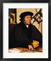 Framed Portrait of Nicholas Kratzer