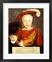 Framed Portrait of Edward VI as a child