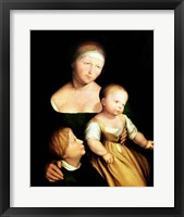 Framed Artist's Wife and Children, 1528