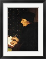 Framed Portrait of Desiderius Erasmus