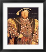 Framed Portrait of Henry VIII A