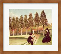 Framed Artist Painting his Wife