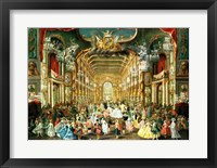 Framed Masked Ball in the Hoftheater, Bonn, 1754
