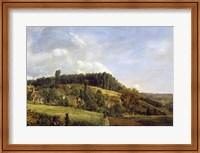 Framed Forest Glade near a Village, 1833