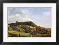 Framed Forest Glade near a Village, 1833