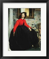 Framed Young Lady in a Red Jacket