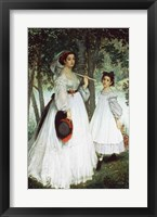 Framed Two Sisters: Portrait, 1863
