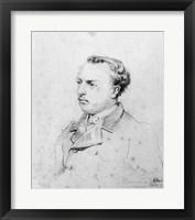 Framed Emmanuel Chabrier aged 20, 1861