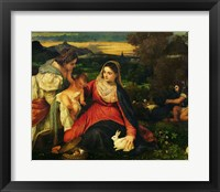 Framed Madonna and Child with St. Catherine