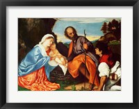 Framed Holy Family and a Shepherd