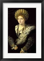 Framed Portrait of Isabella d'Este