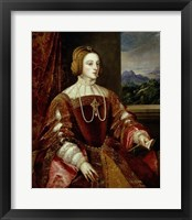 Framed Portrait of the Empress Isabella of Portugal, 1548
