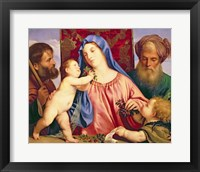 Framed Madonna of the Cherries with Joseph
