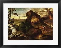 Framed Orpheus and Eurydice