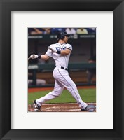 Framed Ben Zobrist 2011 Action