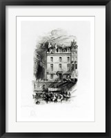 Framed Napoleon's Lodgings on the Quai Conti