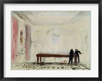Framed Billiard players at Petworth House, 1830