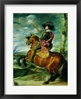 Framed Equestrian Portrait of Don Gaspar de Guzman