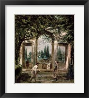 Framed Gardens of the Villa Medici in Rome