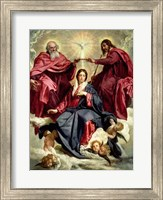 Framed Coronation of the Virgin