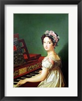 Framed Artist's Daughter at the Clavichord