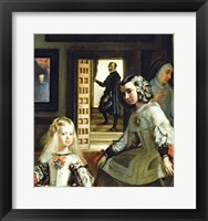 Framed Las Meninas or The Family of Philip IV, c.1656, Detail Center