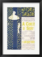 Framed Poster advertising 'A Comedy of Sighs'
