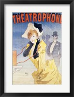 Framed Poster Advertising the 'Theatrophone'
